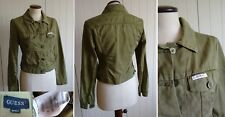 GUESS JEANS S GREEN CROP JACKET giubbetto giacca giubbino ORIGINAL CITY lovely