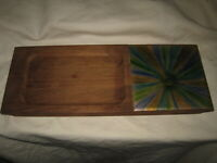 Bovano Copper Enamel & Wood Handcrafted Cheese Board Vintage Mid Century Modern