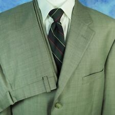Tasso Elba Mens 44R Suit Brown Super 110s Wool Jacket Flat Front Pants 37x30