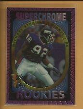 Michael Strahan RC 1993 Wild Card Super Chrome Rookie Card # 26 New York Giants