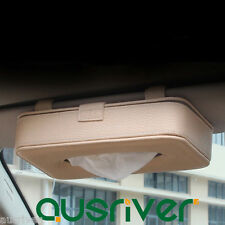 Car Sun Visor Tissue Box PU Leather Auto Accessories Holder Paper Napkin Clip