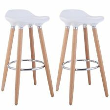 Neuf Home Kitchen ABS Tabouret de bar en plastique Breakfast Barstool Pieds en