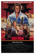 TAI-PAN (1986) ORIGINAL MOVIE POSTER  -  ROLLED  -  ARTWORK BY JOHN ALVIN