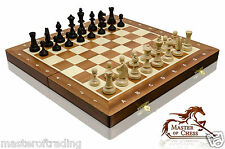 Stunning TOURNAMENT No.3 Professional Wooden Chess Set 35x35!