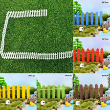 Miniature Wood Fence Accessories Fairy DIY Garden Doll House 90*5cm Kit Decor