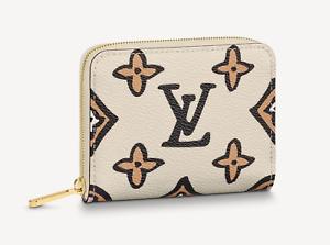 🍀LOUIS VUITTON Wild At Heart Logo Monogram Zippy Coin Purse Wallet  AUTHENTIC