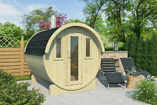 VERFÜGBARES Saunafass 235 cm Fasssauna Holz Sauna Fass Massivholz Saunakabine