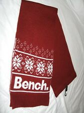 BNWT -  BENCH Snowflake  Knitted  Winter Scarf   Autumn Red