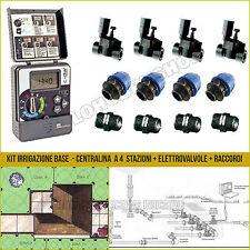 Kit irrigazione centralina Rain C-Dial 4 stazioni programmatore + elettrovalvole