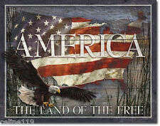 America - Land of the Free  Vintage Style Metal Signs Man Cave Garage Decor 69