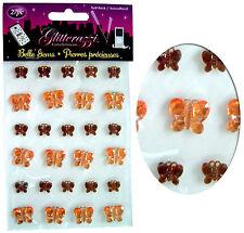Creación de tarjetas pegatinas Hoja, Mariposa X 27, Diamante Gema Adorno Brown/orange