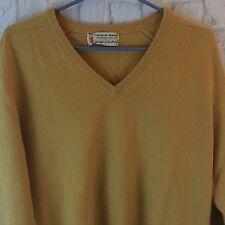 Pringle Of Scotland Scotch House Men's Size 40 V Neck 100% Cashmere Sweater