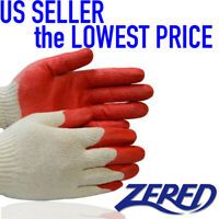✔ WHOLESALE 300 Pairs of Zered SAVER RED Latex Rubber Coated Safety Work Gloves