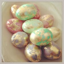 5 Colours Pearl Paint Dye + Silver Shine Decorate EASTER EGG Gelatin eggs craft