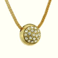 Ball W Swarovski Crystal Pendant Chain GP Necklace Jewelry