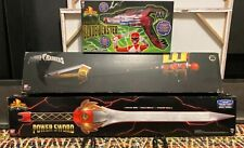 Power Rangers Legacy Lot: Power Sword/Gold Zeo Power Staff/Blade Blaster