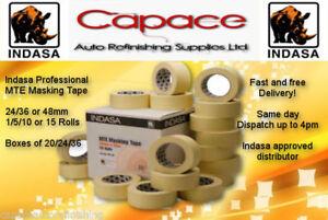 Indasa MTE Low Tack High Quality Masking Tape 24/36/48/72MM x 50m Various Sizes