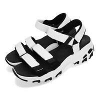 Skechers D Lites-Fresh Catch White Black Women Sports Sandals Shoes 31514-WBK
