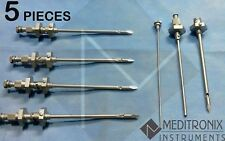 Lot of 5 Abrams Pleural Biopsy (Punch) Needle Set *Reusable* 3 piece needle set