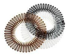 Three Plastic Zig Zag Flexi Comb Sport Headband Hair Band Grip Black Brown Clear