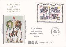 Enveloppe grand format 1er jour 1991 Personnages de la Révolution