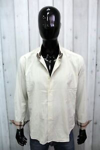 Camicia Burberry Brit Uomo Taglia 2XL Chemise Shirt Cotone Manica Lunga Logo Man