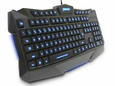 Plixio LED Backlit Light-Up Wired USB Gaming Color Changing Keyboard PC Laptop