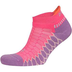 Balega Silver No Show Running Socks - Bright Lilac/Watermelon