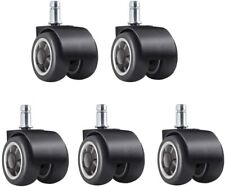 Office Chair Caster Wheels Set Of 5universal 2 Rubber Chair Casters 2