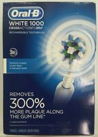 Oral-B Pro Crossaction White 1000 Rechargeable Toothbrush w/ New Head