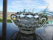 """Vintage Jeannette Glass Cube Clear Pattern Open Sugar 2.375"""""""