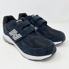 New Balance 990 KV990BSP Black Adjustable Strap Athletic Shoes Kids Size 3