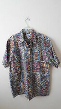 REYN SPOONER sz XL TIKI Button Front Short Sleeve Hawaiian Shirt