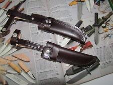 STILETTMSCHEIDE für Jagdnicker Messer 12 cm Klinge. Msch mit Gürtelchlaufe.
