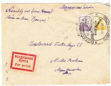 Russia SOVIET-Sc#318,#315-ILLUSTRATED AIRPLANE CANCEL-27/IX/30-TO FRANCE