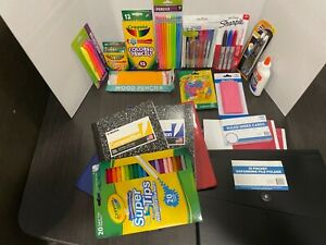 school supplies bundle. Everything a kid could need to get going in school!