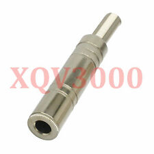 """2pcs Audio video Connector 6.35mm jack female TRS 1/4"""" stereo speaker cable Ni"""
