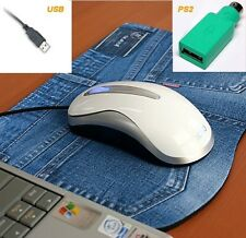 Actto Optical White Mouse USB PS/2 for DELL Inspiron Sony HP Toshiba Mac DeskTop