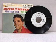 Elvis Presley 45 RPM Heartbreak Hotel / I Was The One ** Radio Promo GS Series