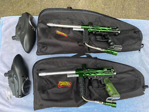 PreOwned Spyder Victor Paintball Gun With Bag Lot Of 2 Mint Condition Complete