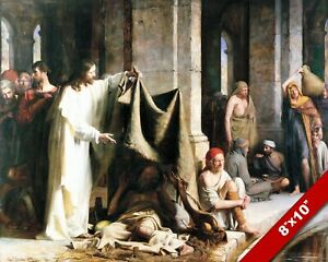 POOL OF BETHESDA CARL BLOCH CHRISTIAN BIBLE PAINTING ART PRINT ON REAL CANVAS