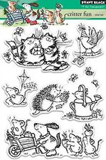 Critter Fun, Clear Unmounted Rubber Stamp Set PENNY BLACK- NEW, 30-335