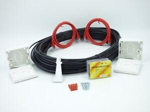 25 MTR External CAT5E Network Extension kit  Ethernet cable Kit 100% COPPER