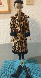 Barbie Vintage Clone Maddie Mod Shillman Leopard Coat Satin Slacks Boots 70s