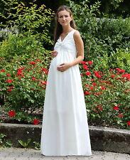Maxi-Umstandsbrautkleid  Hochzeit  Chiffon weiß   34 36 38 40 42 44 46       NEU