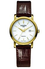 Roamer Women's Swiss Quartz Watch Steel Case Brown Leather Strap 709844 48 25 07