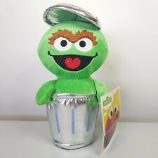 NEW Oscar The Grouch Sesame Street Plush Trash Can Toy NWT