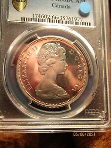 "1967   CANADA   SILVER   DOLLAR...PCGS  ""GOLD  SHIELD""...PR66 DCAM..SWEET   COIN"