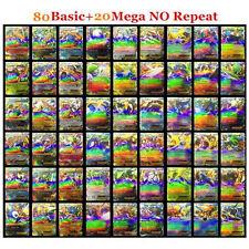 Pokemon TCG- 100 CARD LOT RARE 20 MEGA FLASH CARDS+80 EX CARDS worth collecting