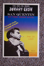The Man In Black Johnny Cash Tour Poster 1969 San Quentin  Statler Brothers #2